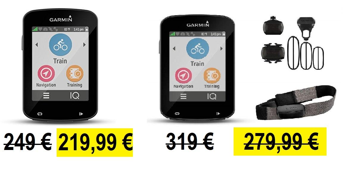 Garmin Edge 820 sin accesorios (219,99 €) o con accesorios (279,99 €)