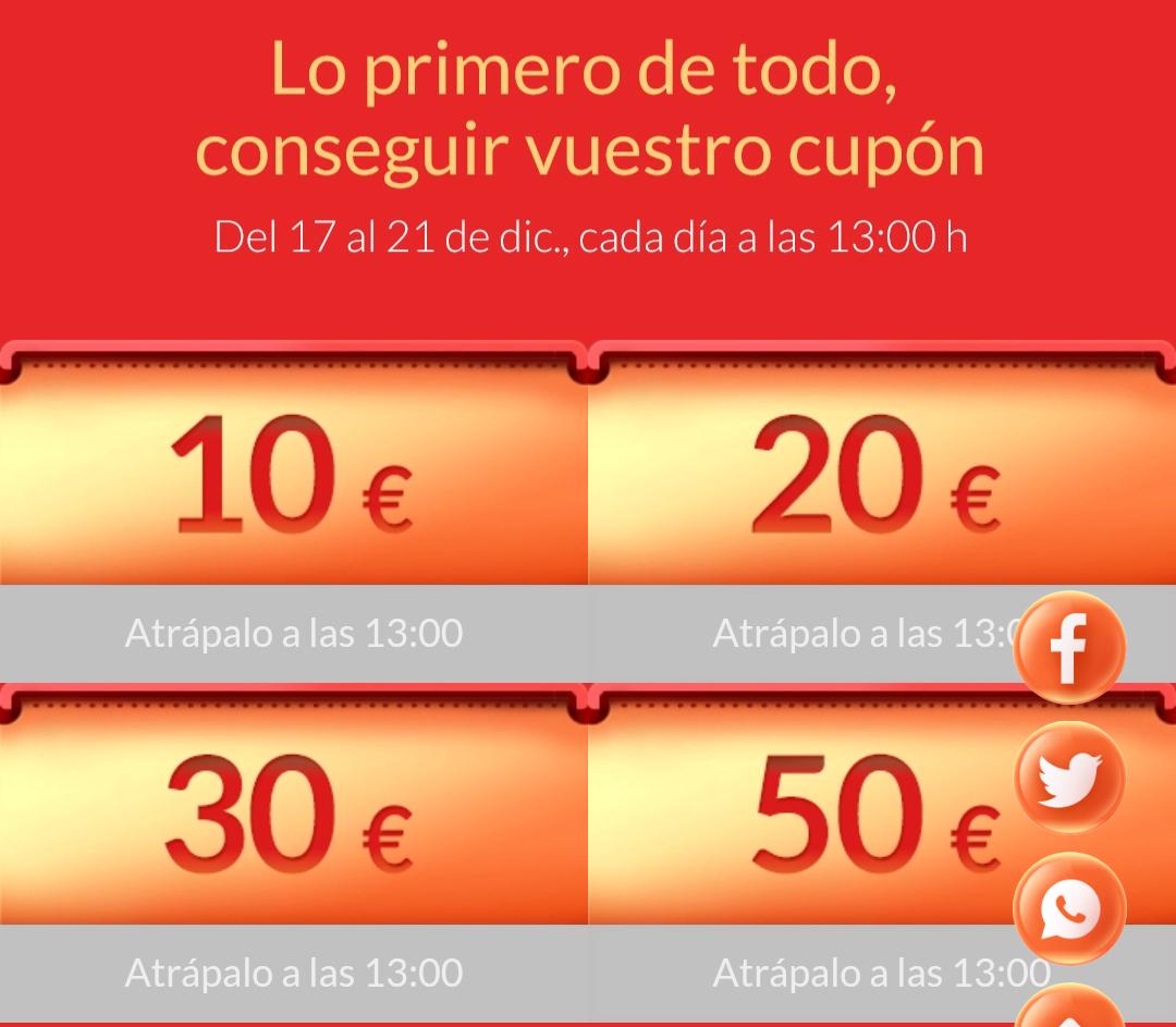 Cupones 10,20,30 y 50€ y descuentos MI oficial
