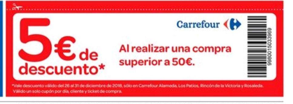 5€ por compras superiores a 50€