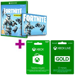 10€ de regalo con la compra de Pack Fortnite + 12 meses Xbox Live