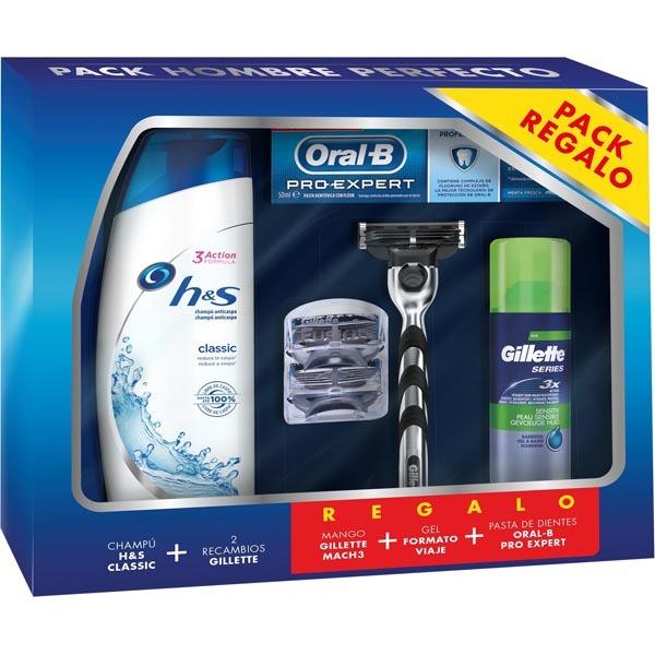 GILLETTE MACH3 pack con 2 recambios de maquinilla de afeitar + Extras