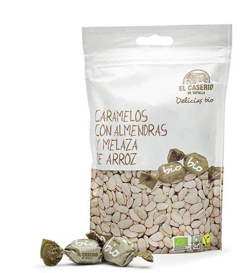 15 paquetes Caserio de Tafalla Caramelos Almendras y Melaza Arroz BIO (0.93€ paquete)