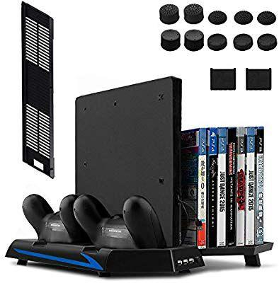 Keten PS4 Slim/ PS4 Soporte Vertical con Ventilador 2 en 1