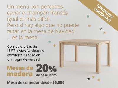 20% Dto. Mesa de comedor de madera