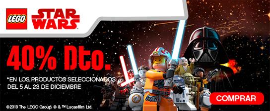 Hasta un 40% en una selección de productos Lego Star Wars