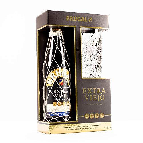 Ahorra en la compra de Brugal Extra Viejo + Vaso