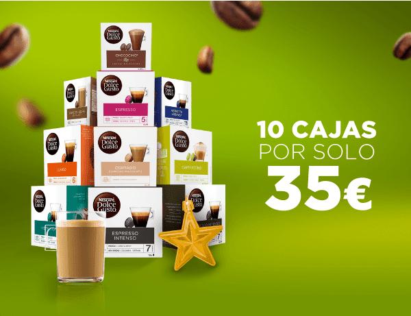 Chollazo Dolce Gusto 10 cajas por 35€  + 1 de regalo total 11 cajas