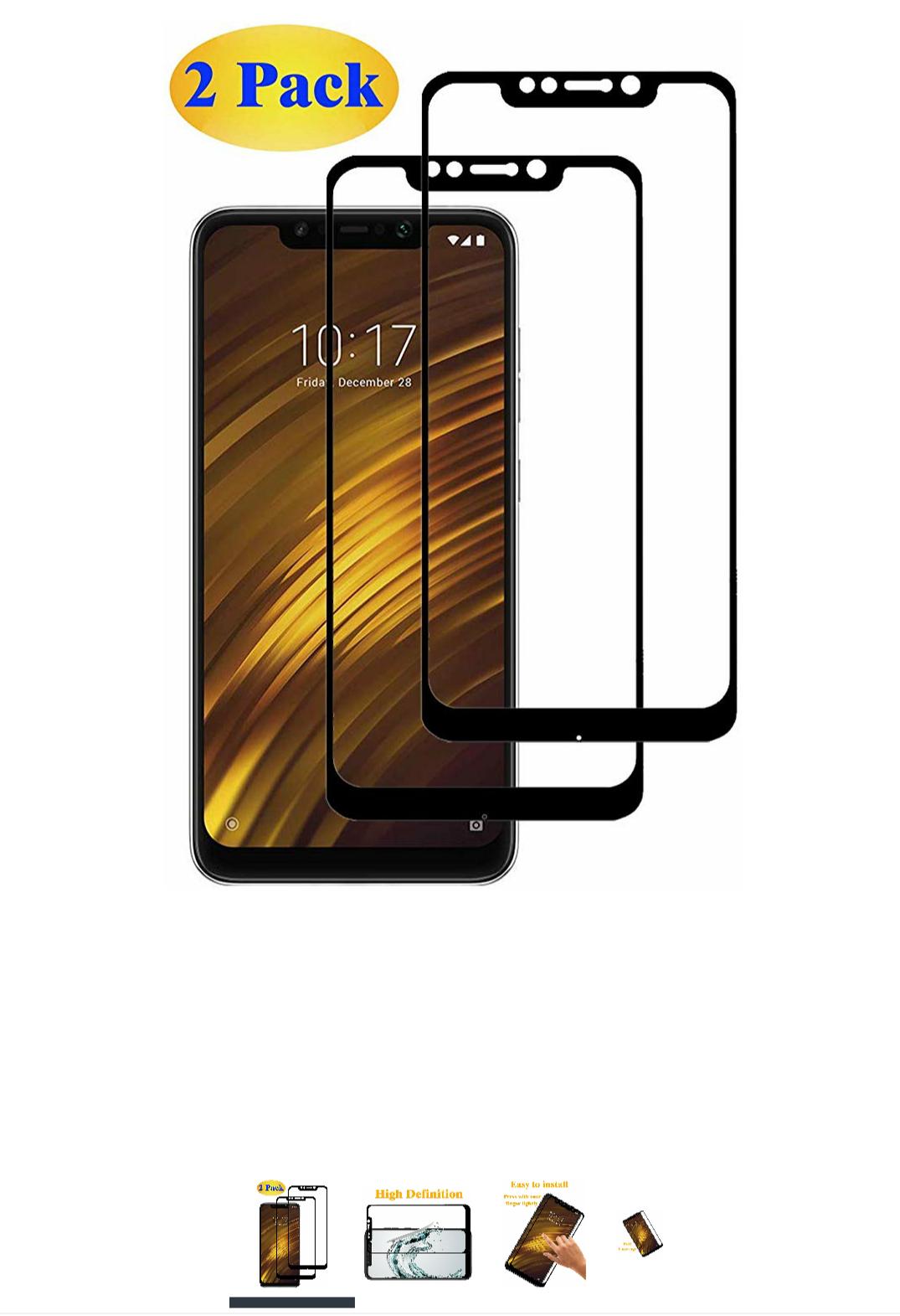 Amazon [2 unidades] Cristal Templado Xiaomi Pocophone F1