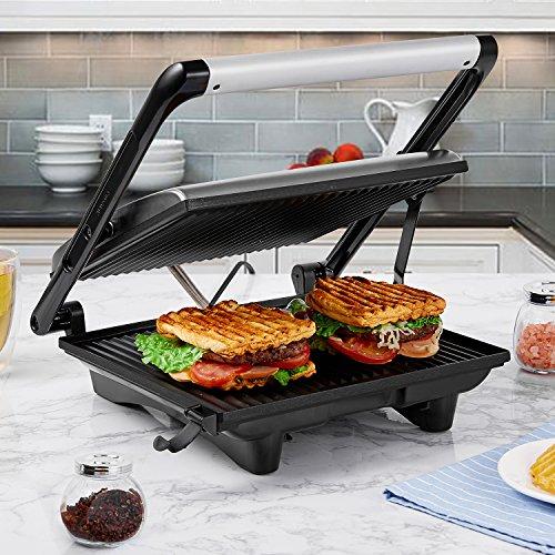 Sandwichera Grill 4-Serving, Panini Grill 2000W,
