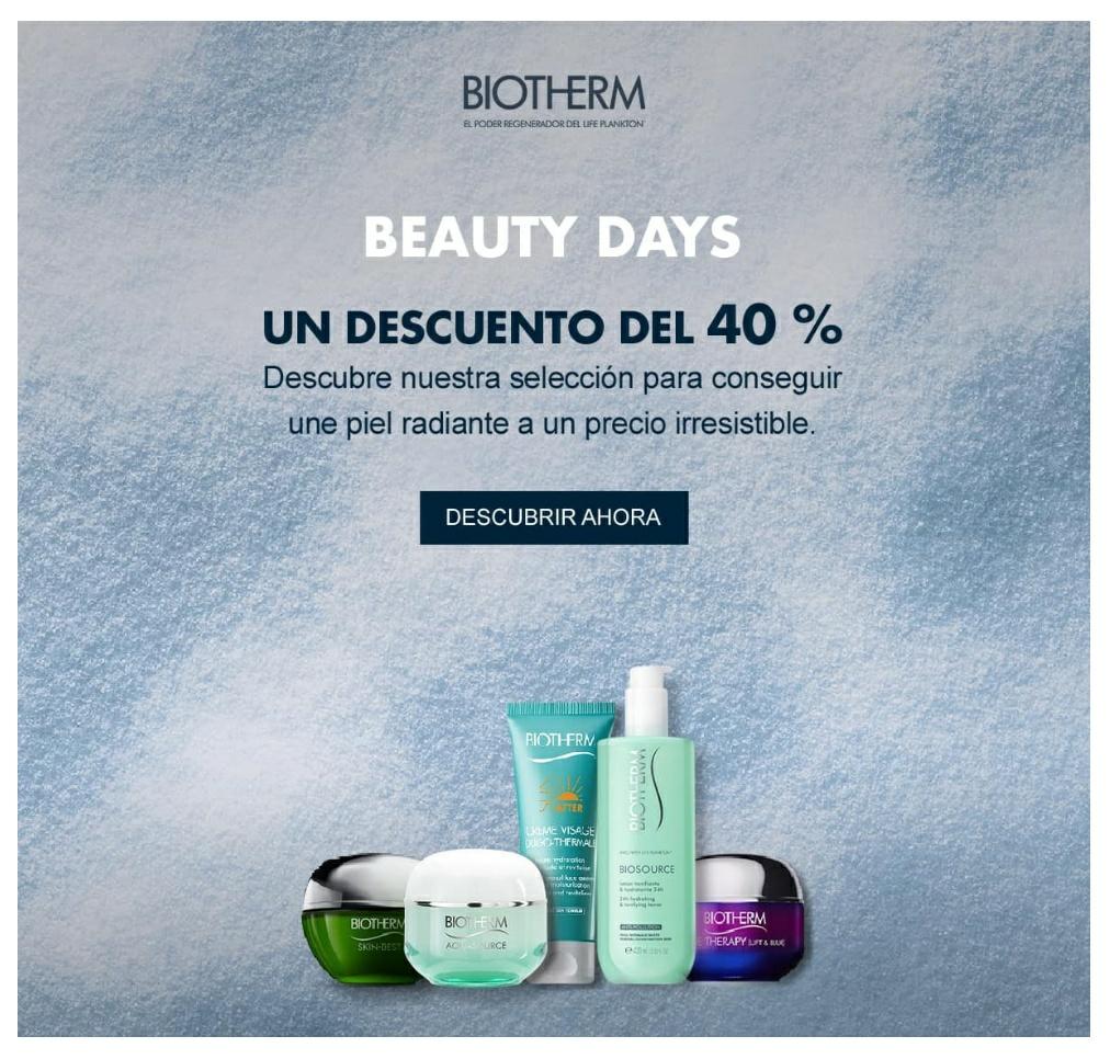 Hasta 40% de descuento en Biotherm