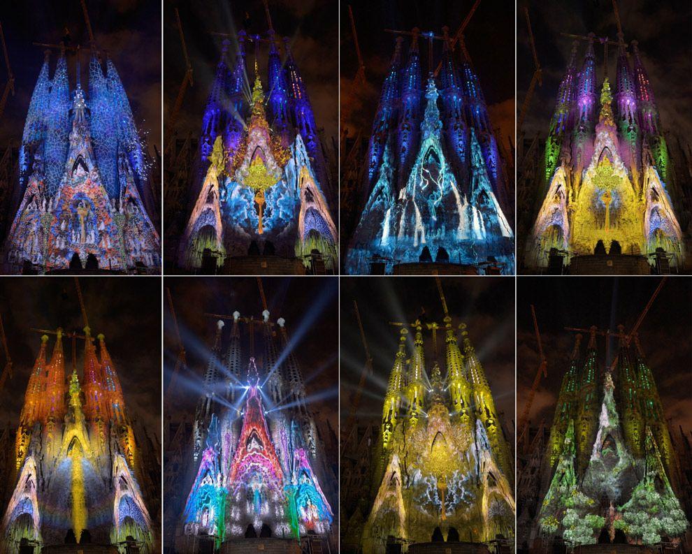 Iluminación de la fachada de la Sagrada Familia (Barcelona: actividad gratuita)