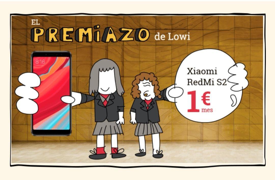 El premiazo de Lowi:  Xiaomi Redmi S2 por sólo 1 euro/mes