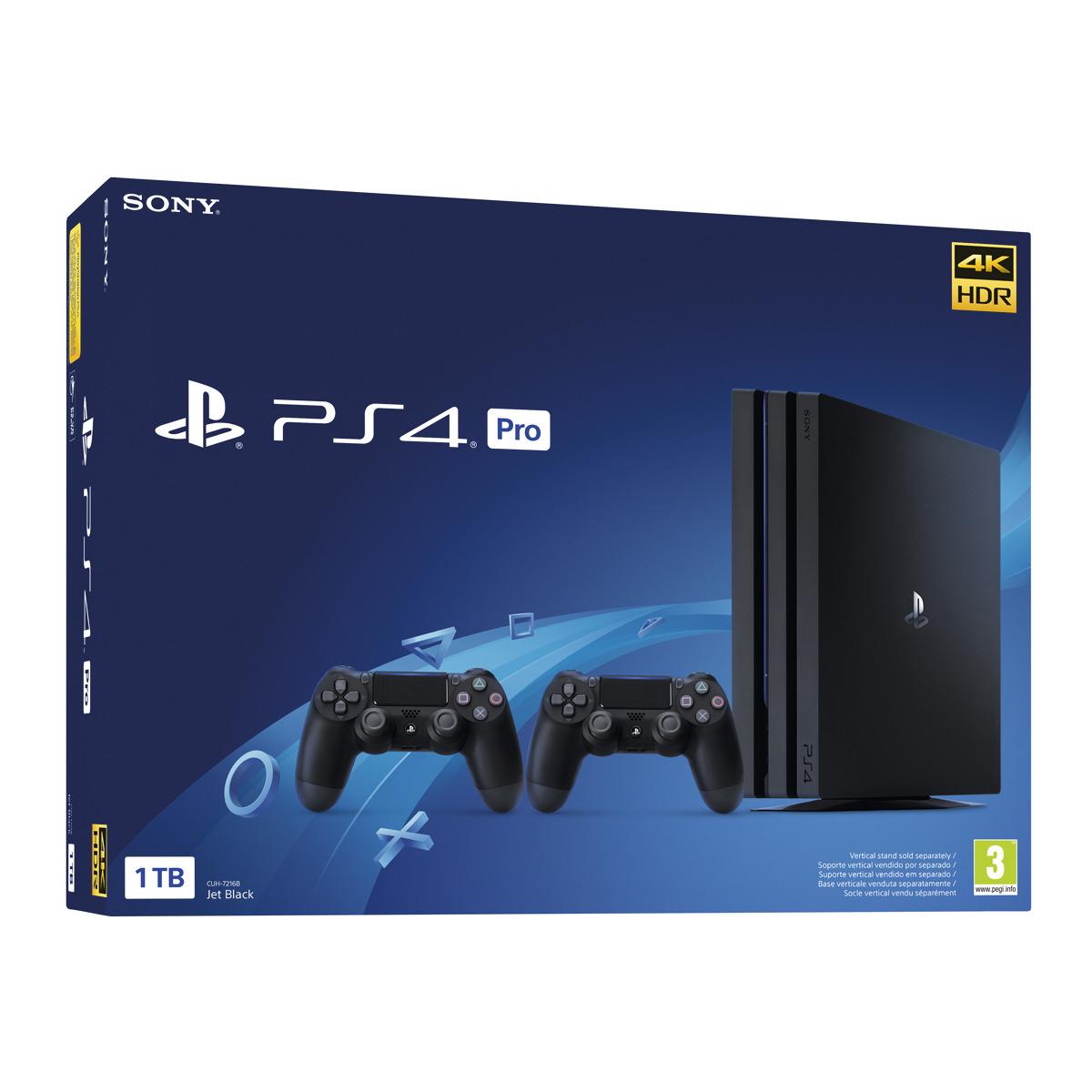 Consola PS4 PRO de 1 TB (Chassis Gamma) + 2 Mandos Dualshock 4