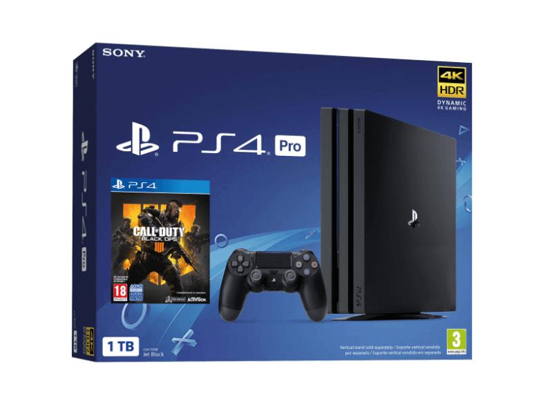 Consola - PS4 Pro, 1 TB, Negra + Codigo Black Ops 4