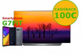 LG OLED55C8PLA + Cashback 100€ + LG G7 fit