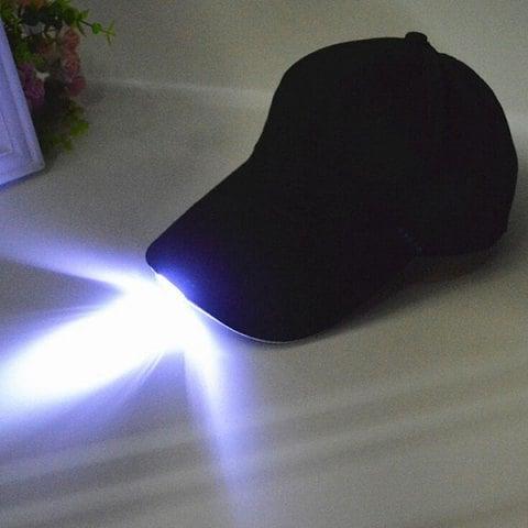 Gorra con luz LED.