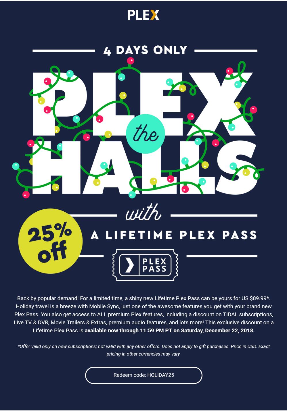 Plex - descuento cuenta lifetime (vitalicia)