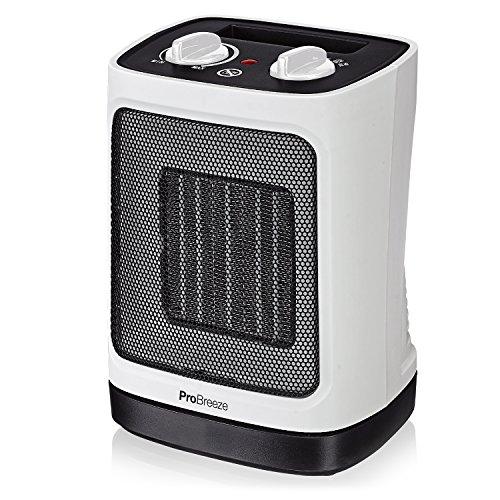 Pro Breeze 2000 W Mini Ventilador Calefactor Estufa de Cerámica - Oscilación auto.