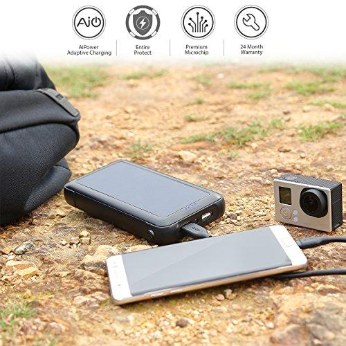 Cargador Solar Portátil 20000mAh con Panel Solar