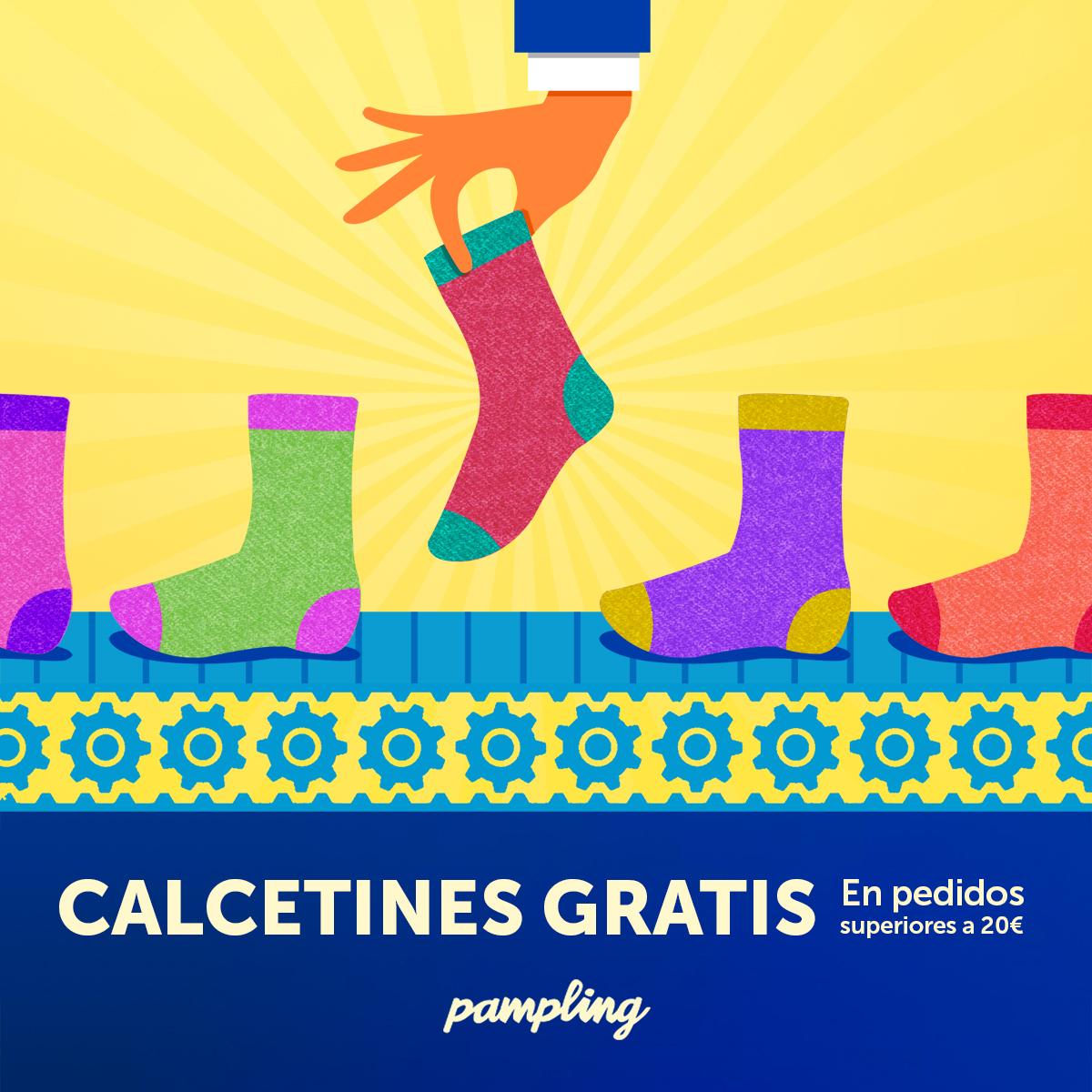 Calcetines gratis con tu pedido de  20€  en Pampling