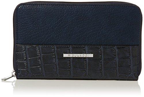 Billetera de mujer azul-negro