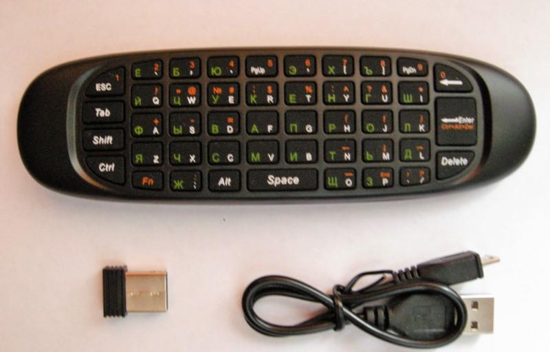 Teclado inalámbrico Control remoto Sensor de movimiento de 6 ejes para Smart TV Android TV BOX PC