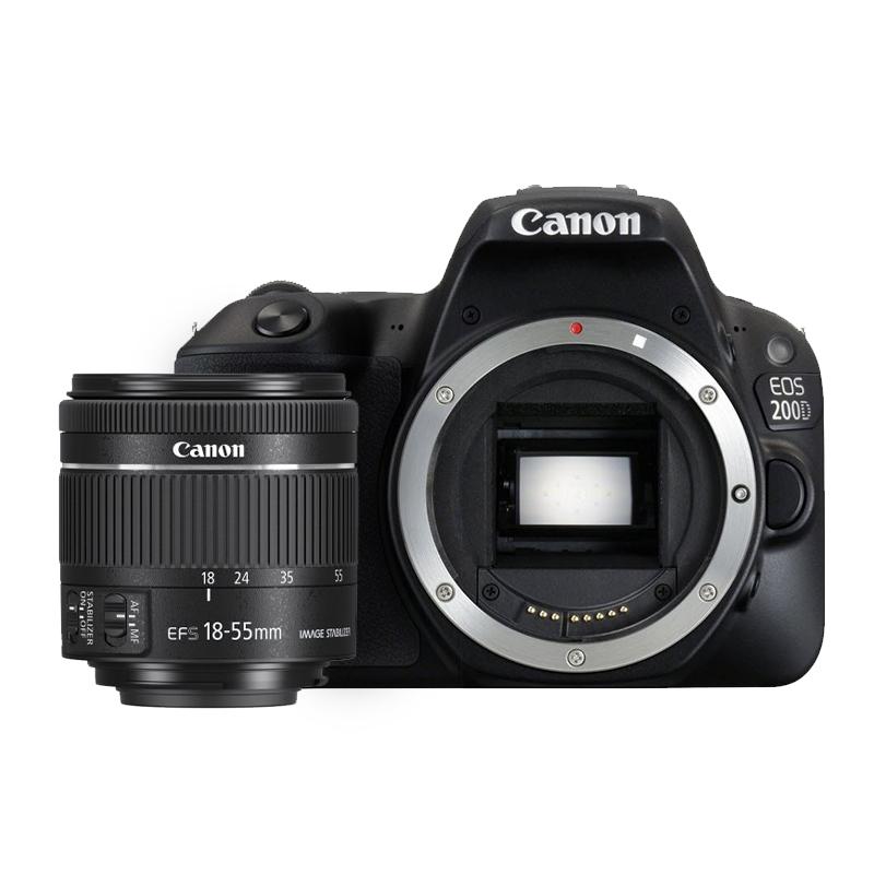 Canon 200D + Objetivo 18-55