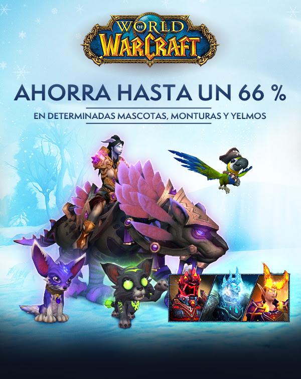 World of Warcraft: 66 % en determinadas mascotas, monturas y yelmos