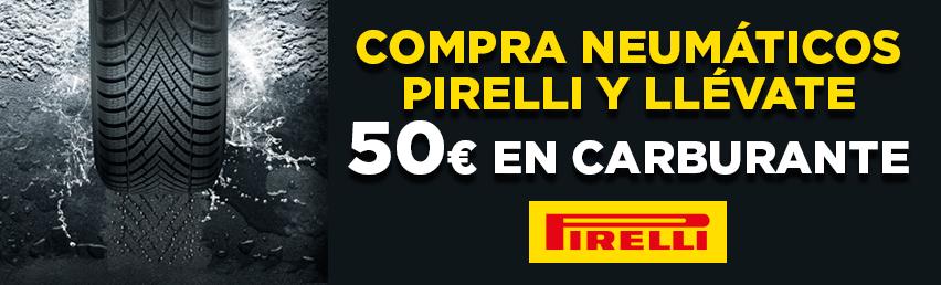 """EUROMASTER: Compra 4 neumáticos de invierno Pirelli de 17"""" o > y llévate 50€ de carburante"""