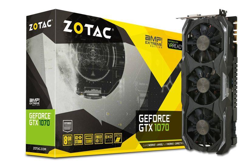 Zotac GTX 1070 AMP! EXTREME Core 8GB GDDR5X