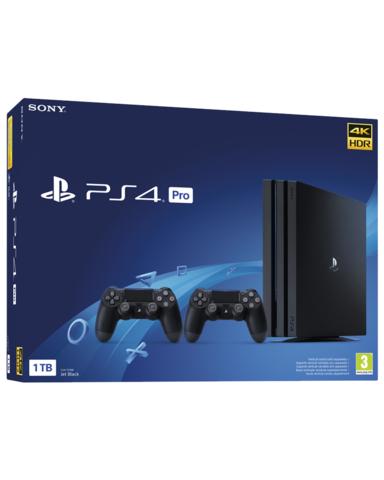 PS4 Consola Pro 1TB + 2 Mandos DualShock 4