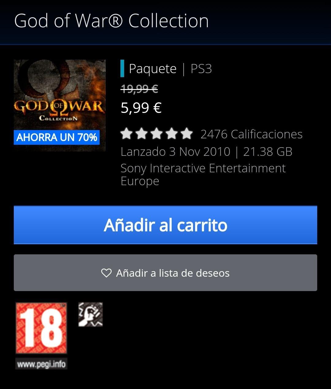 Coleccion God of War ps3