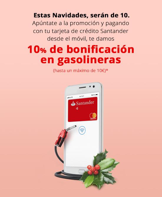 Descuento 10% en gasolineras (Banco Santander)