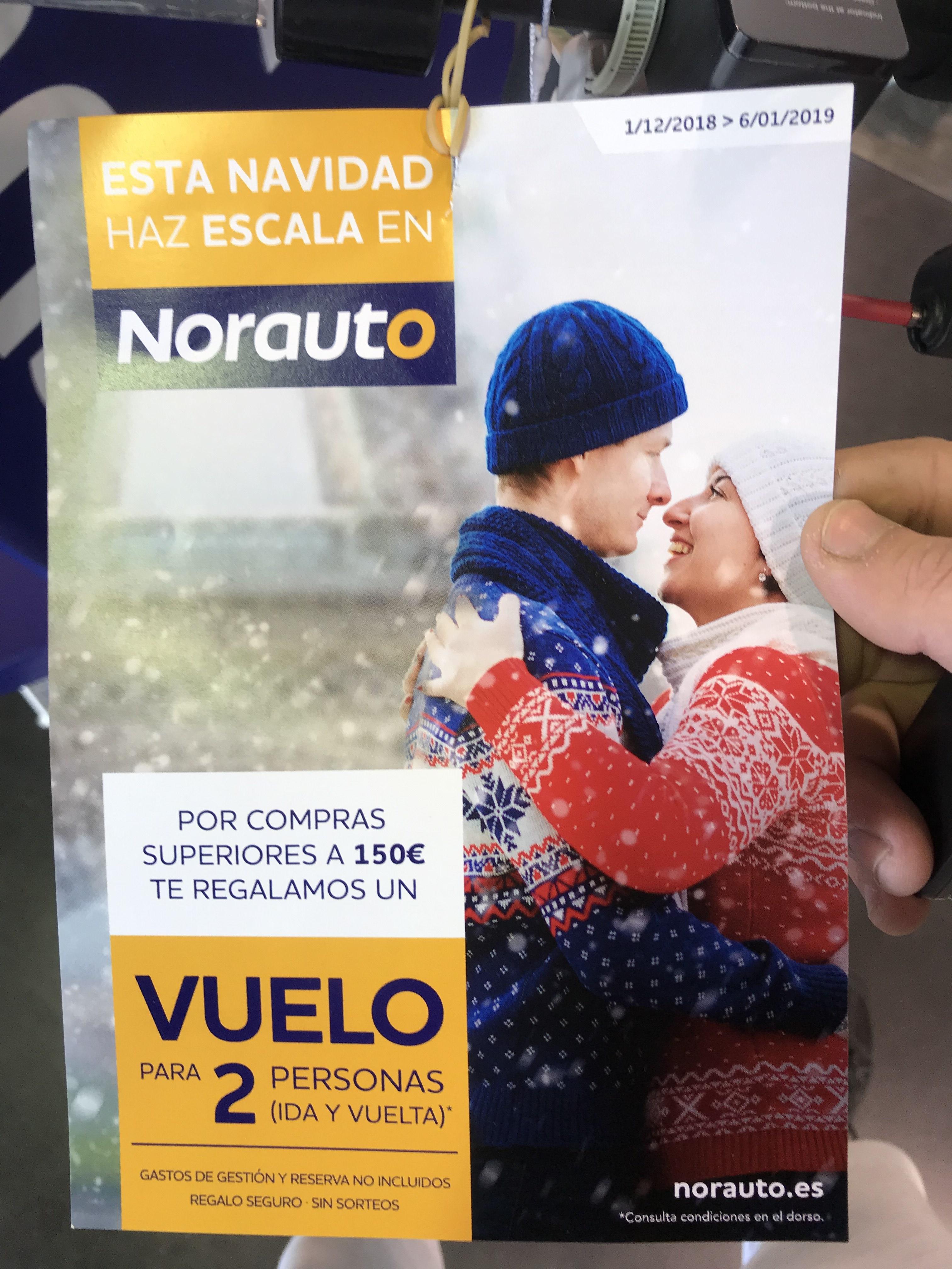 Vuelo para 2 personas por España compra superior a 150€