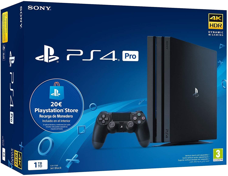 PlayStation 4 Pro 1tb + Tarjeta Prepago PSN por 319€