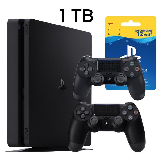 PlayStation 4 1TB + 2 DualShock + 1 año de PSN Plus