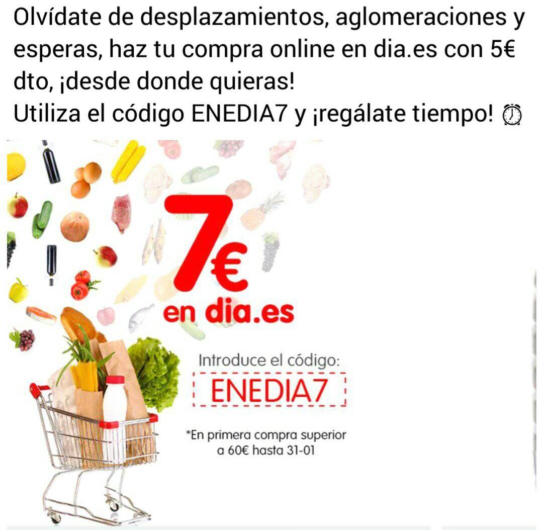 Descuento de 7 euros por compra en Día online