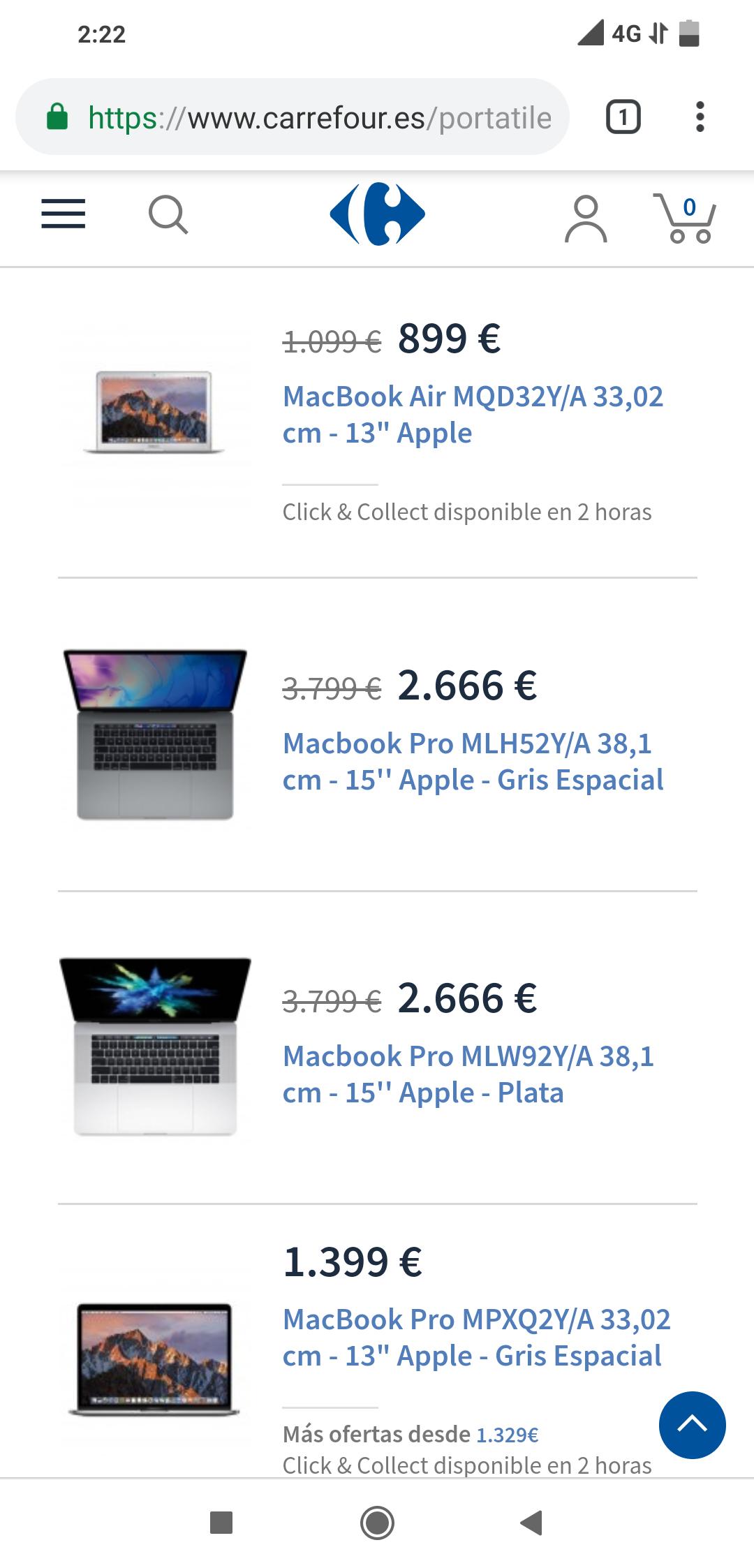 MacBook pro 15 pulgadas, 1tb ssd, 16 ram, i7 4 nucleos