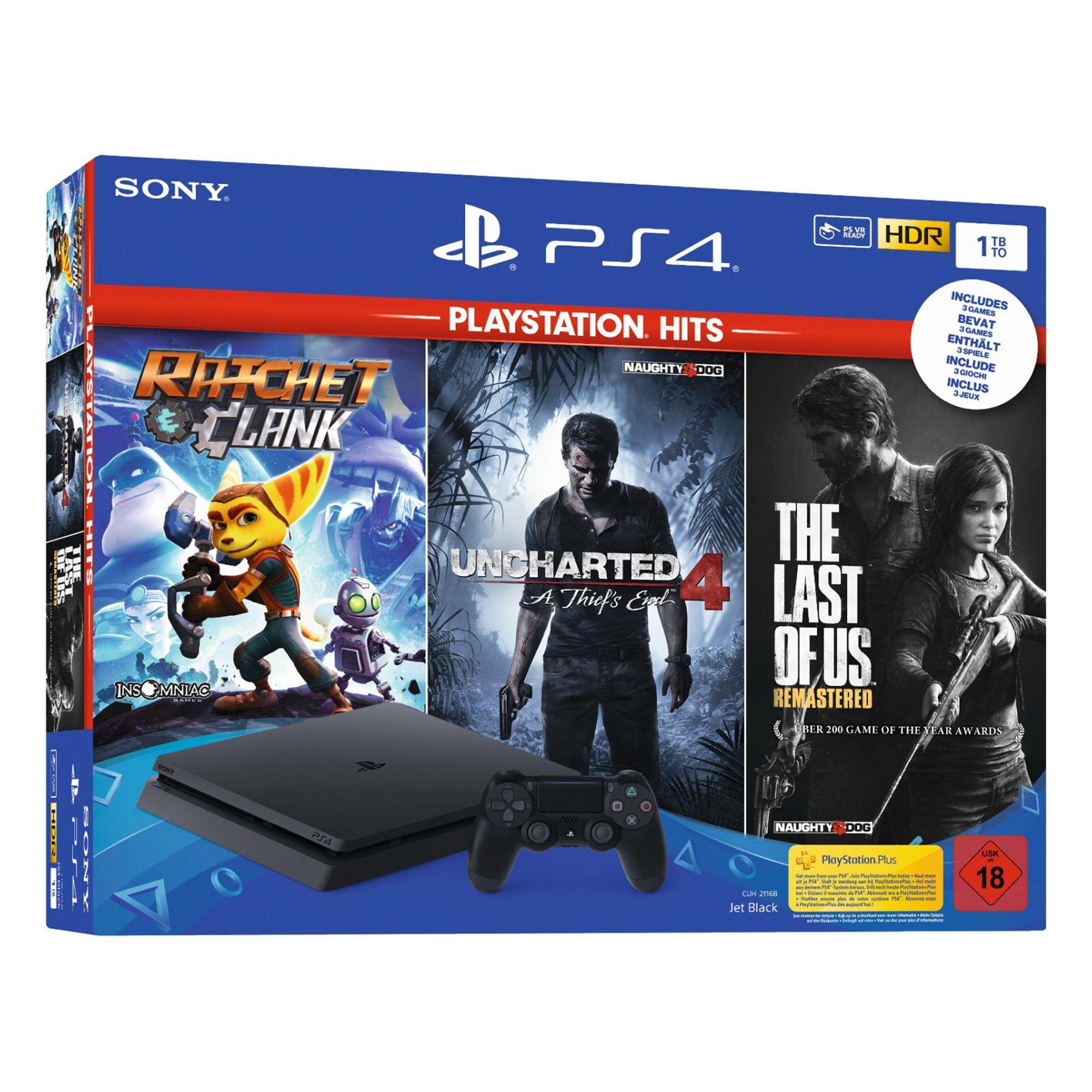 PS4 1TB + 3 juegos