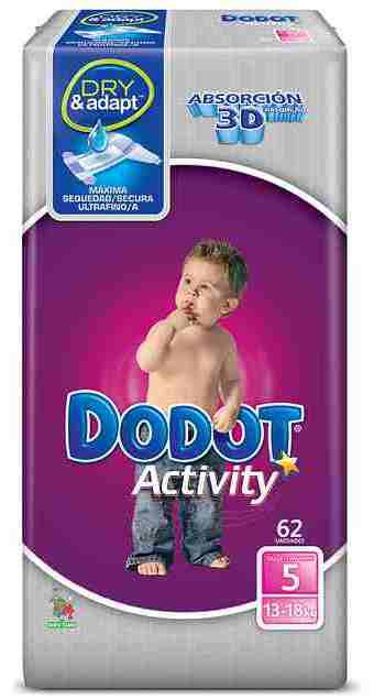 Pañales dodot activity talla 3 y 5