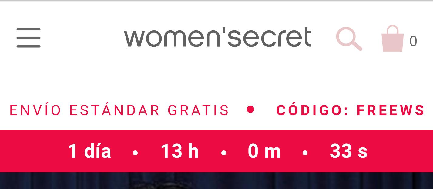 GASTOS DE ENVÍO GRATIS Y REBAJAS HASTA 70% (women secret)