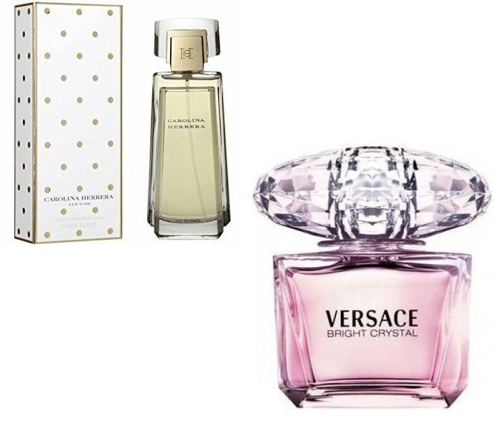 Descuento en perfume Carolina Herrrera y Versace Bright Crystal
