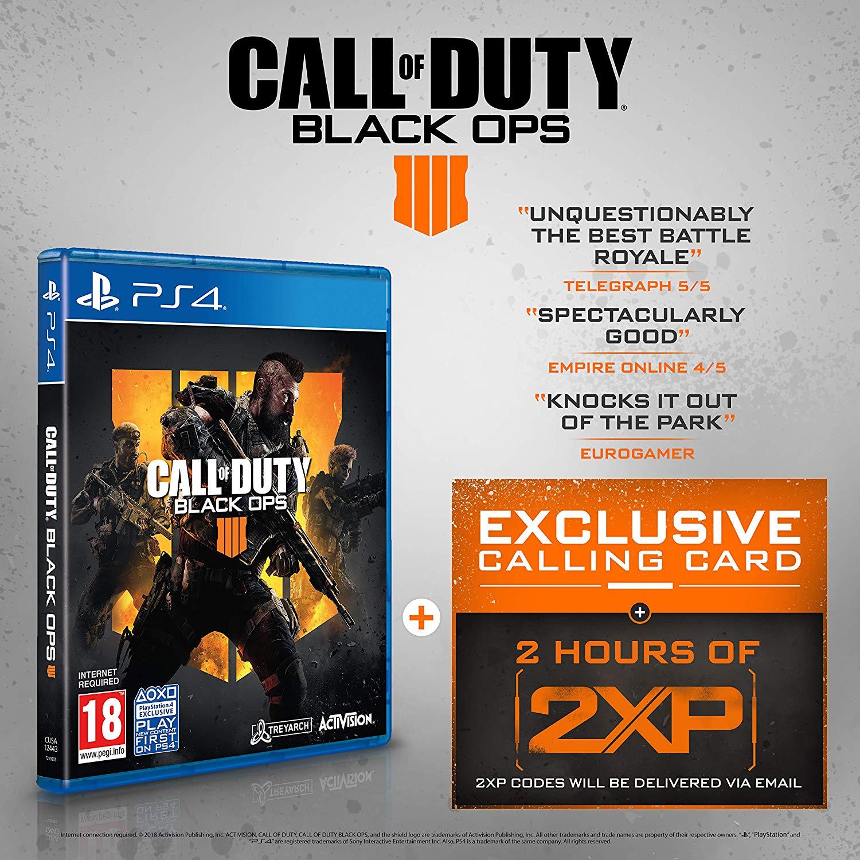 Call of Duty: Black Ops 4 + 2 horas de 2XP (PS4)