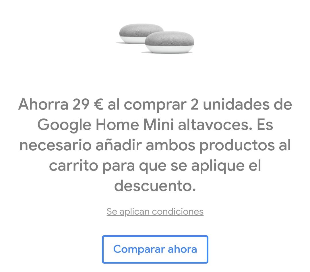 Dos Google Home Mini MAS BARATO