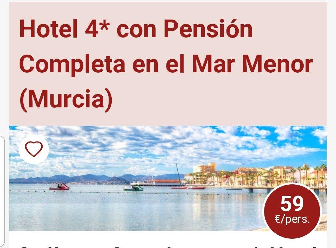 3 DÍAS Y 2 NOCHES. OFERTÓN EN UN HOTEL 4 ESTRELLAS CON PENSIÓN COMPLETA EN LOS ALCAZARES MURCIA POR 59€ POR PERSONA.
