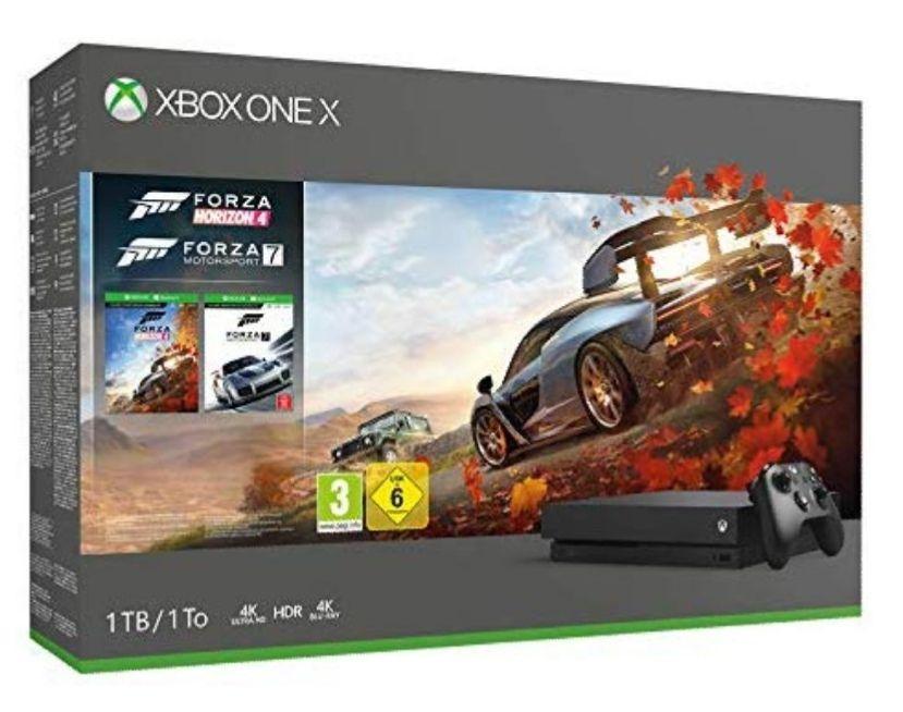 Xbox one X 1T + Forza Horizon 4 + Forza motorsport 7+ 14gg Xbox live gold + 1 mes Game Pass ( bundle) [ importación Italiana]