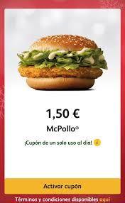 Sólo hoy McPollo 1,50€