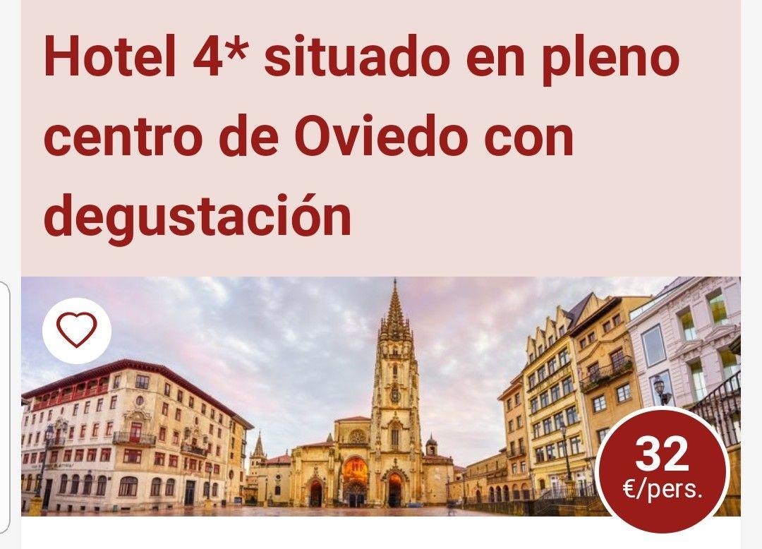 2 DIAS Y UNA NOCHE EN HOTEL DE 4 ESTRELLAS EN PLENO CENTRO DE OVIEDO.DESAYUNO + DEGUSTACIÓN PRODUCTOS ASTURIANOS +BOTELLA DE SIDRA +PARKING.