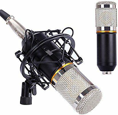 Micrófono de grabación profesional + soporte anti-vibración