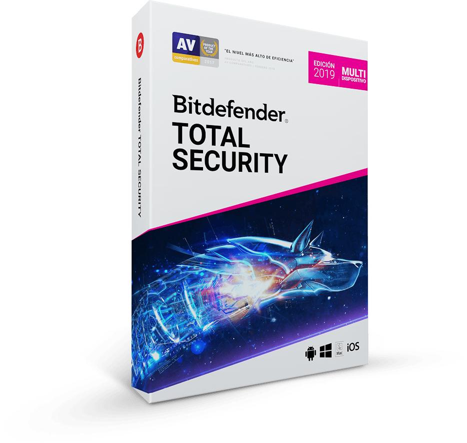 Bitdefender Total Security 2019 hasta 5 dispositivos / 1 AÑO
